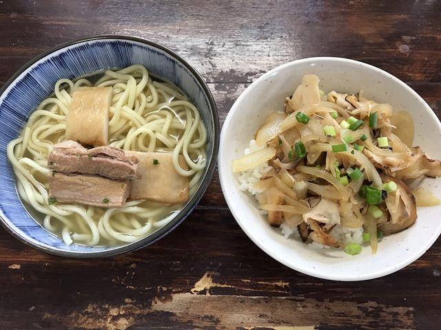 宮古そばとカーキダコ丼_大神島