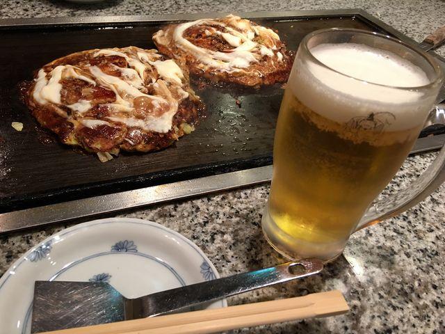 ビールと一緒に♪_お好み焼 美津の