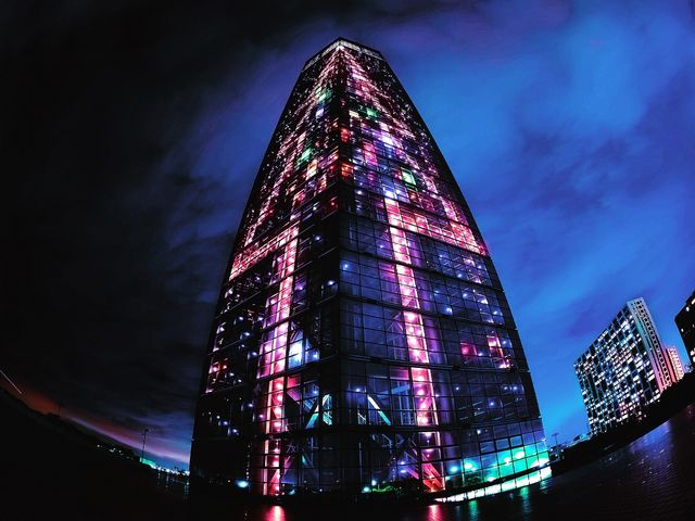 クリスマスイルミ(´∀`)_千葉ポートタワー