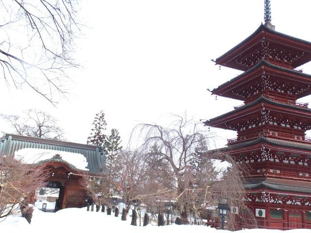 江戸時代の五重塔だそうです_最勝院五重塔
