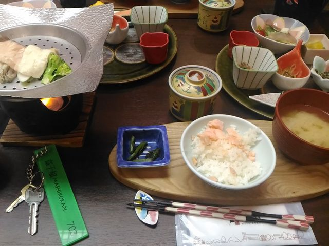 朝食(たべかけですいません)_益子館 里山リゾートホテル