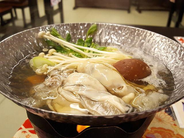 鍋。いい出汁でした_夕映えの宿 銀波荘