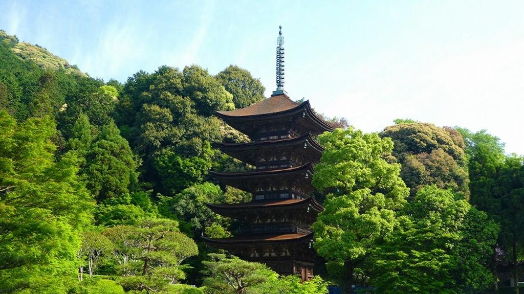 国宝瑠璃光寺五重塔