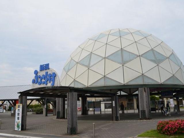 入り口のドーム_道の駅 新潟ふるさと村バザール館
