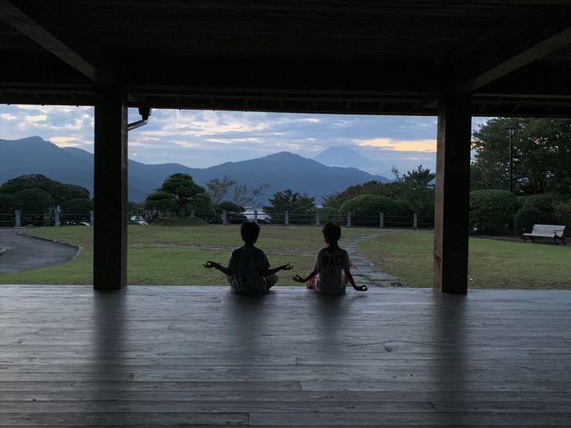 富士が望める休憩所_恩賜箱根公園