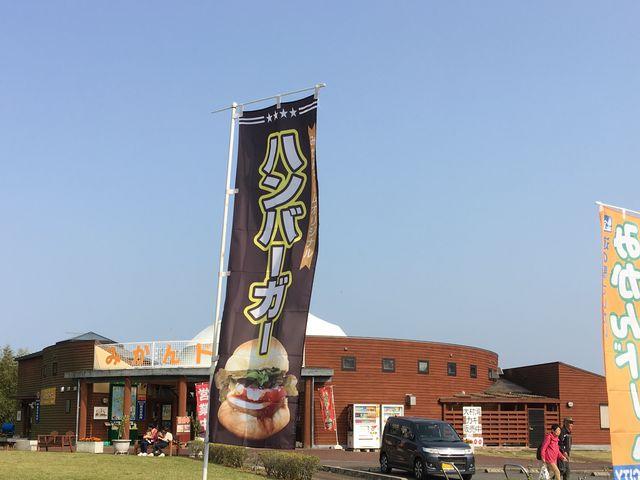 みかんドームオリジナルのみかんドームハンバーガーも食べられます。_道の駅さいかい みかんドーム