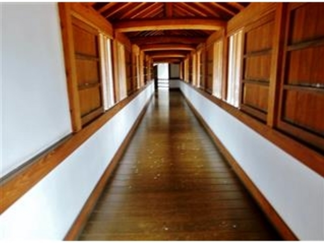 約240m有る百間廊下_姫路城百間廊下