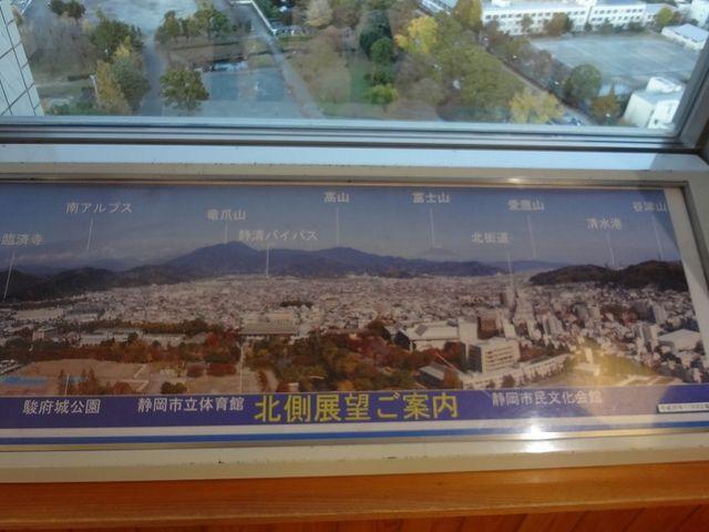 この向き(北側)に富士山_静岡県庁別館21階富士山展望ロビー