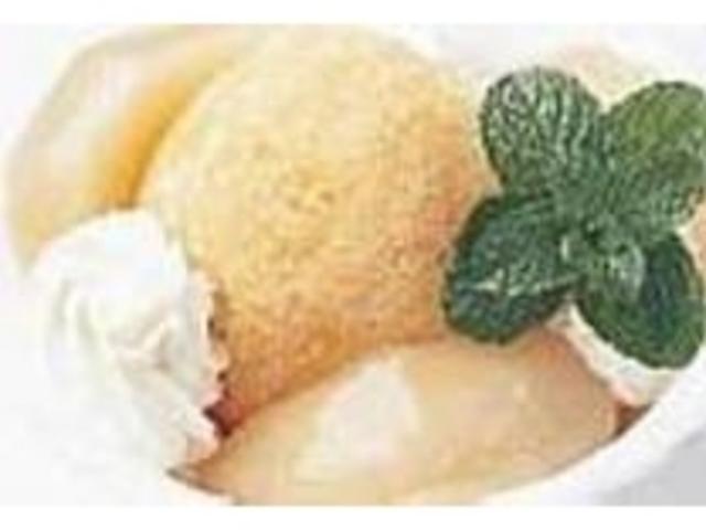 『白桃のシャーベット』は5月~8月限定_レストラン ピーチドール