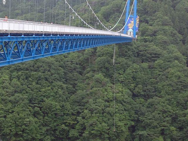バンジージャンプをしているのを、観ました。_竜神大吊橋
