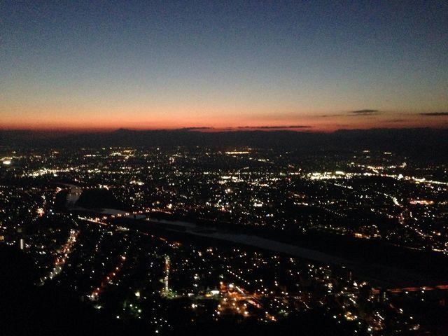 夕日が沈むのが綺麗でした_岐阜城天守閣