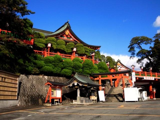 太皷谷稲成神社 駐車場から_太皷谷稲成神社