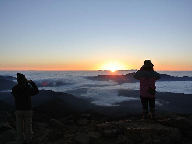 富士見岳からのご来光_乗鞍岳