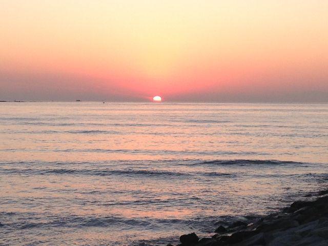 とても綺麗な夕日が見れました_岩井海岸