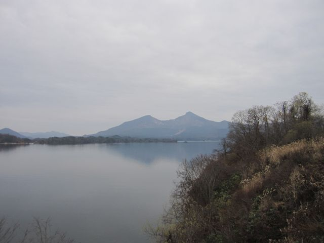 2015年11月22日撮影) 「桧原湖」「磐梯山」_磐梯山