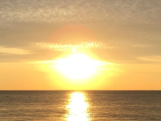 角島での夕日_角島