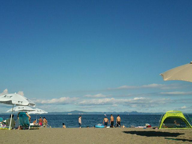 青い空青い海~今年も三浦に帰ってきました(^▽^)/_三浦海岸海水浴場
