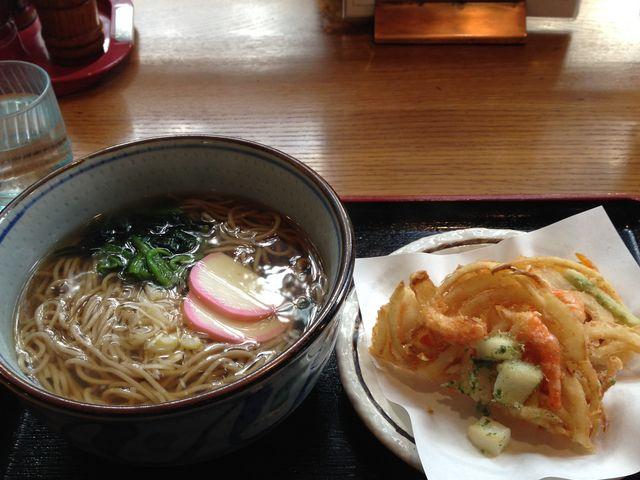 天ぷら蕎麦_ひらゆの森