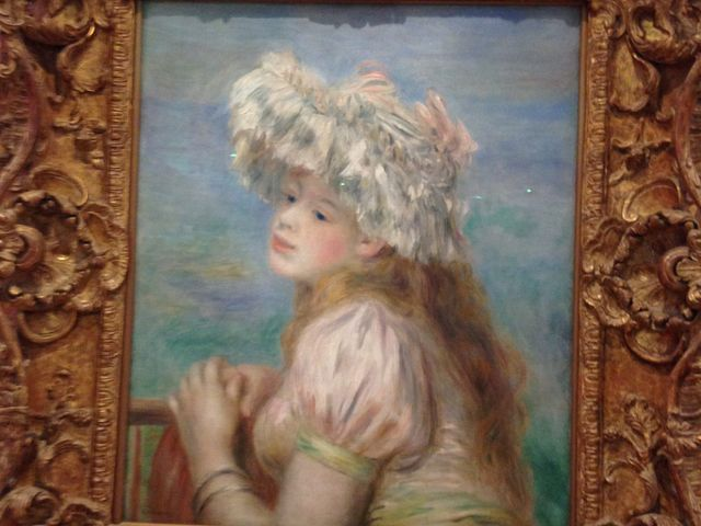 ルノワール 白い帽子の少女  これらは常設コーナーの絵画で撮影もokなのです!_ポーラ美術館