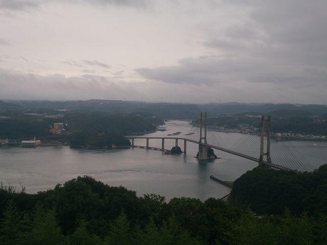 風の見える丘公園から見る呼子大橋。_呼子大橋