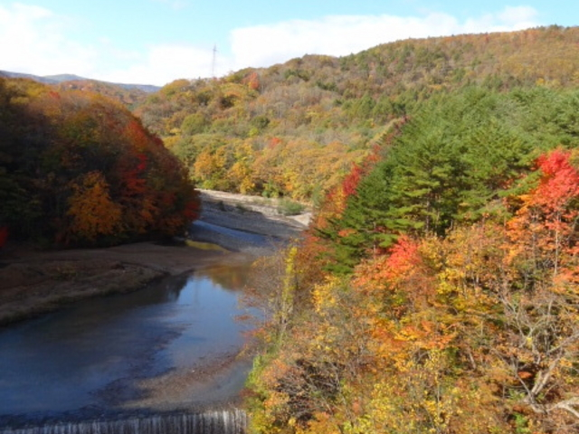 橋の上から(10月中旬)_松川渓谷