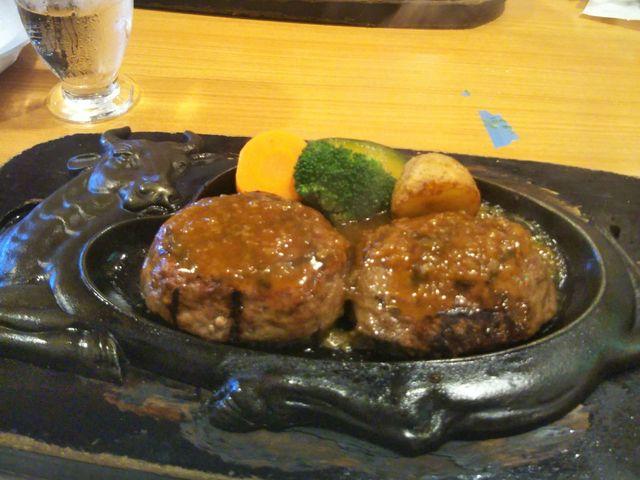 げんこつハンバーグ_炭焼きレストラン さわやか 静岡池田店