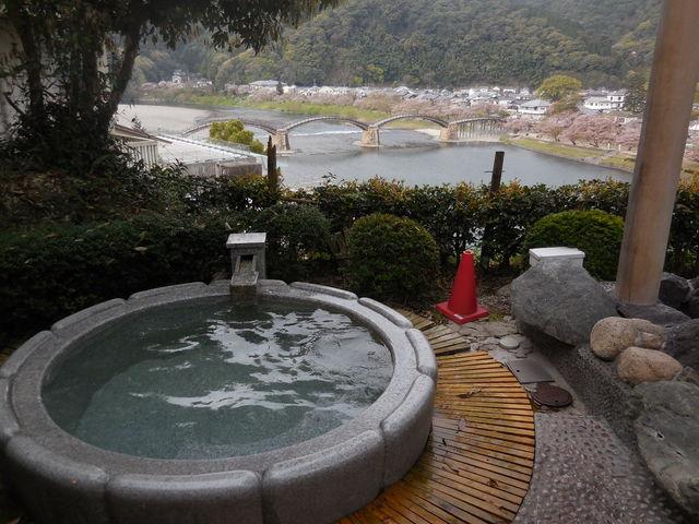 露天風呂。_岩国国際観光ホテル