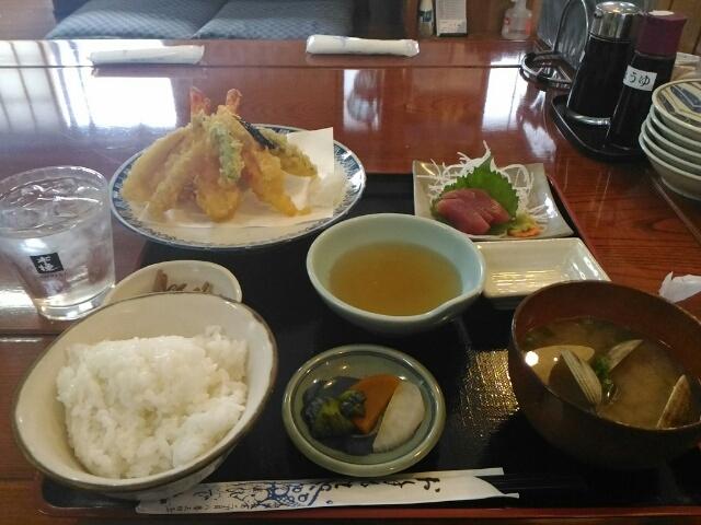 天ぷら定食1200円_ひで丸