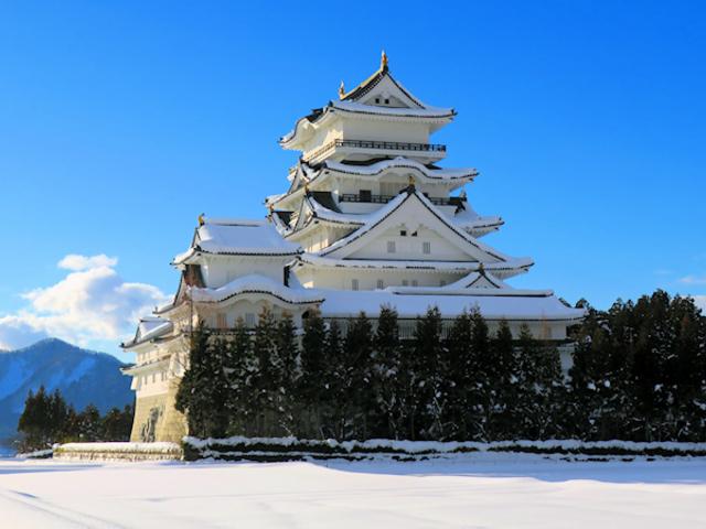 雪化粧の勝山博物館_勝山城博物館