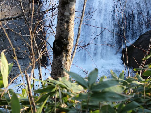 水しぶき_三段の滝