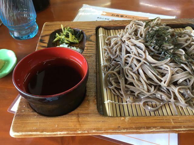 冷しざるそば700円です。安いのにちゃんとしたそばで美味しく頂きました_小赤沢温泉楽養館