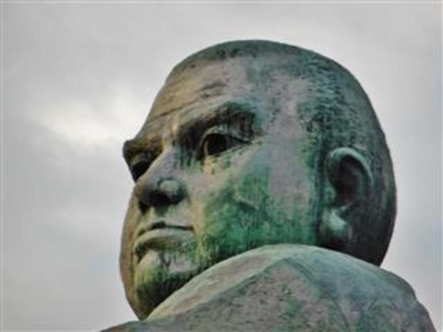 西郷公園内の「西郷隆盛」_西郷隆盛銅像