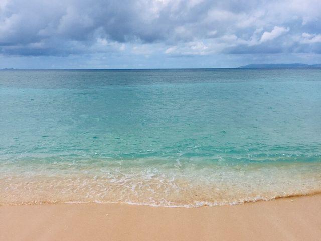 ニシ浜の海岸で撮影_ニシバマビーチ
