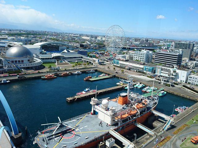 展望台からの景色_名古屋港ポートビル