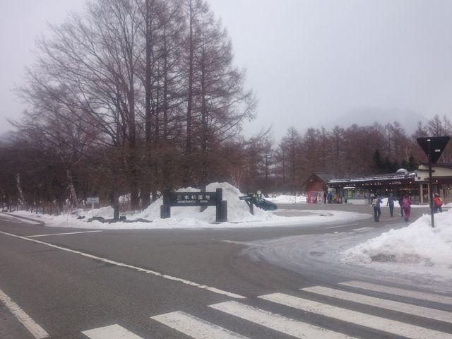 戦場ヶ原の駐車場にあります_三本松茶屋