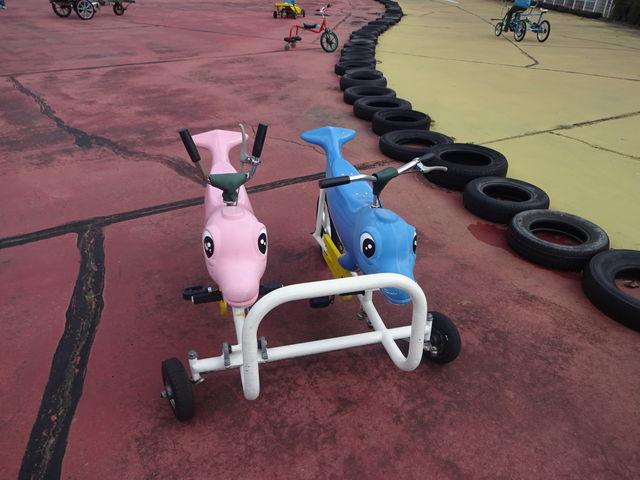 変わった自転車です_播磨中央公園ふじいでんこうさいくるらんど