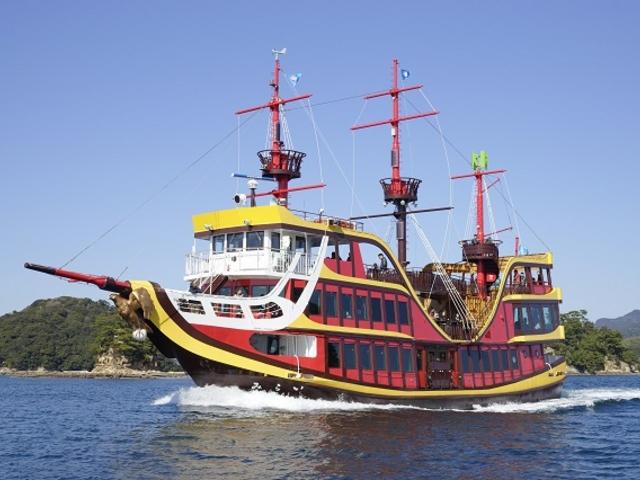 みらいは、日本初の電気推進船遊覧船で海賊船をモチーフにしています。_九十九島パールシーリゾート