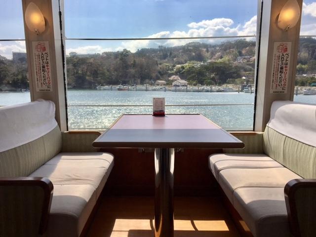 二階グリーンは船内で販売しております。_松島島巡り観光船