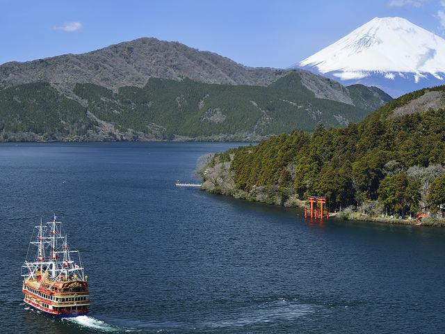 俯瞰写真です。_箱根海賊船
