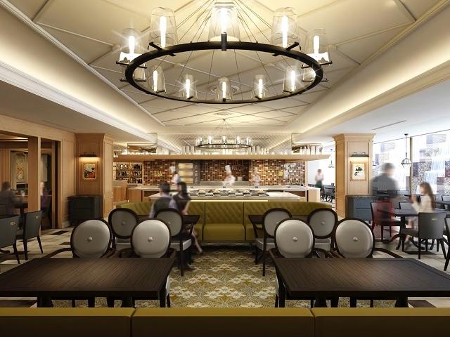 パリのエスプリが効いたカジュアルレストラン。明るく開放的な店内。 オールデイダイニング 「モンマルトル」_名古屋東急ホテル