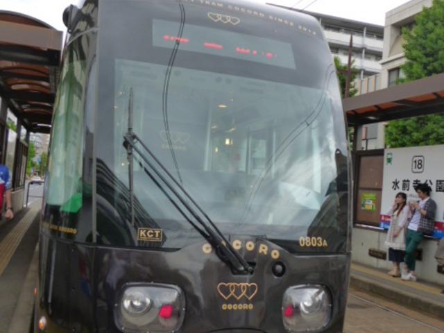 最新型の車両_熊本市電