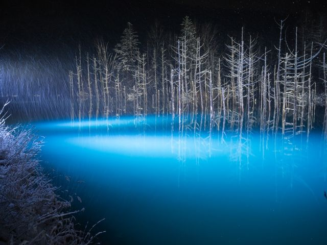 青い池_青い池