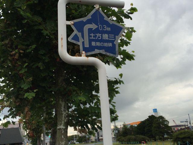 標識です_土方歳三最期の地碑(若松緑地公園内)