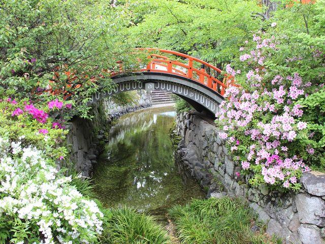御手洗池手前の川に掛かる橋_下鴨神社(賀茂御祖神社)