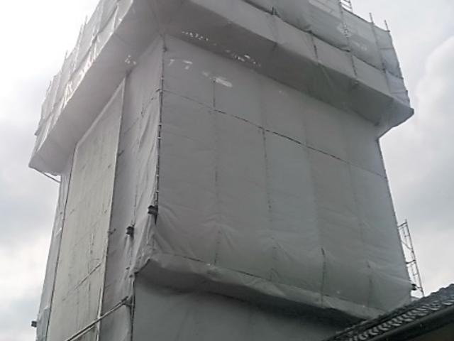 耐震化工事中の「時の鐘」_時の鐘