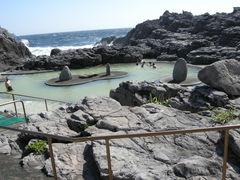 温泉保養センターの露天風呂_神津島温泉保養センター