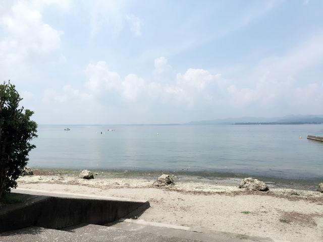 ビーチの端から取りました_かんざんじサンビーチ