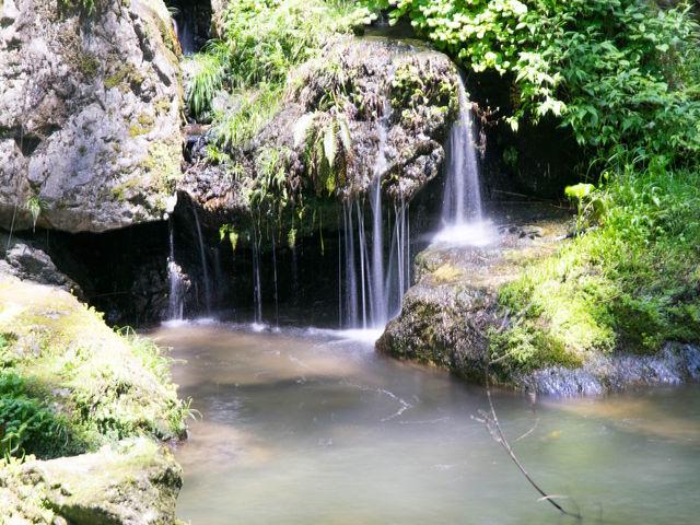 滝から流れてくる水_神庭の滝