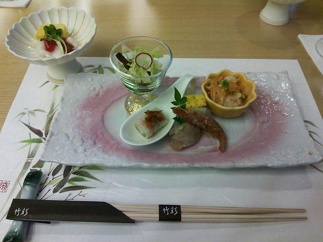 前菜の盛り合わせ お料理全て美味しかったです。_竹彩