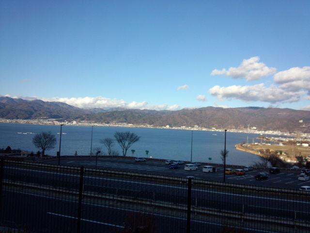夕方:諏訪湖サービスエリアからの眺め。_諏訪湖